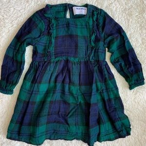 Navy blue and green plaid dress from Old Navy